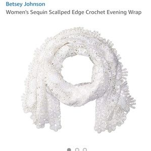 Blue by Betsey Johnson sequin scalloped edge wrap